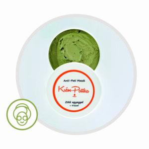 Pattanás elleni maszk Zöld agyaggal és Írisszel